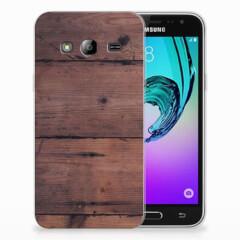 Samsung Galaxy J3 2016 Bumper Hoesje Old Wood