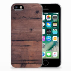 Apple iPhone SE | 5S Bumper Hoesje Old Wood