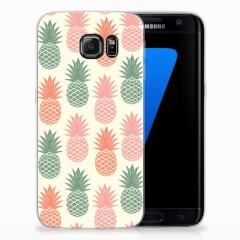 Samsung Galaxy S7 Edge Siliconen Case Ananas