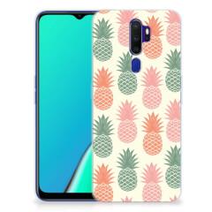 OPPO A5 2020 Siliconen Case Ananas