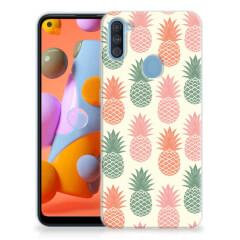 Samsung Galaxy A11   M11 Siliconen Case Ananas