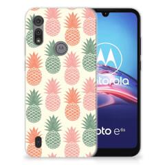 Motorola Moto E6s Siliconen Case Ananas