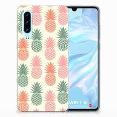 Huawei P30 Siliconen Case Ananas
