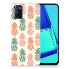 OPPP A52   A72 Siliconen Case Ananas