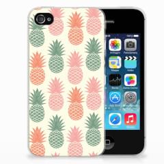 Apple iPhone 4 | 4s Siliconen Case Ananas