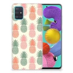 Samsung Galaxy A51 Siliconen Case Ananas