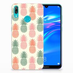 Huawei Y7 2019 Siliconen Case Ananas