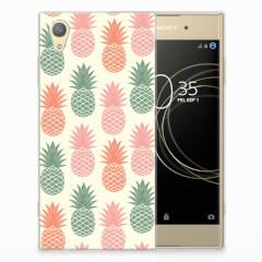 Sony Xperia XA1 Plus Siliconen Case Ananas