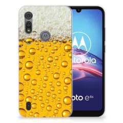 Motorola Moto E6s Siliconen Case Bier