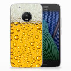 Motorola Moto G5 Plus Siliconen Case Bier