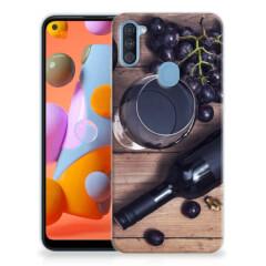 Samsung Galaxy A11   M11 Siliconen Case Wijn