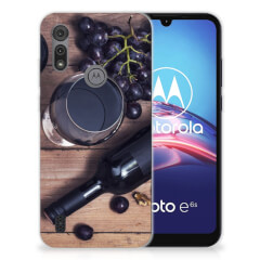 Motorola Moto E6s Siliconen Case Wijn