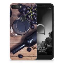 Alcatel 1S (2019) Siliconen Case Wijn