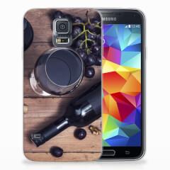 Samsung Galaxy S5 Siliconen Case Wijn