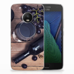 Motorola Moto G5 Plus Siliconen Case Wijn