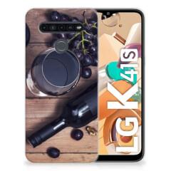 LG K41s Siliconen Case Wijn