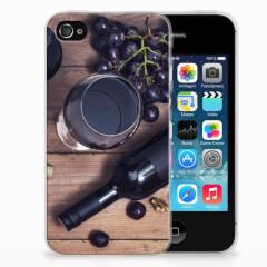 Apple iPhone 4 | 4s Siliconen Case Wijn