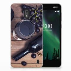 Nokia 2 Siliconen Case Wijn