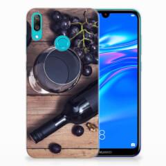 Huawei Y7 2019 Siliconen Case Wijn