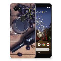 Google Pixel 3A Siliconen Case Wijn
