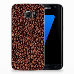 Samsung Galaxy S7 Edge Siliconen Case Koffiebonen
