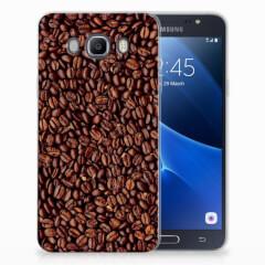 Samsung Galaxy J7 2016 Siliconen Case Koffiebonen