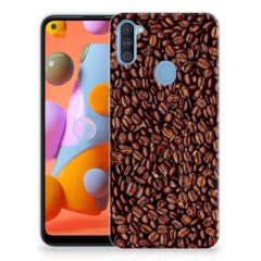 Samsung Galaxy A11   M11 Siliconen Case Koffiebonen