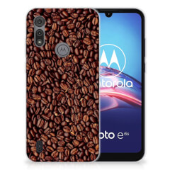Motorola Moto E6s Siliconen Case Koffiebonen
