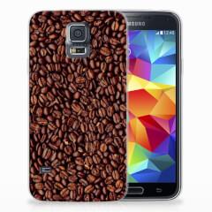 Samsung Galaxy S5 Siliconen Case Koffiebonen