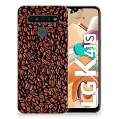 LG K41s Siliconen Case Koffiebonen
