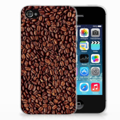 Apple iPhone 4 | 4s Siliconen Case Koffiebonen