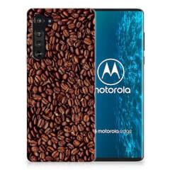 Motorola Edge Siliconen Case Koffiebonen