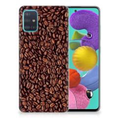 Samsung Galaxy A51 Siliconen Case Koffiebonen