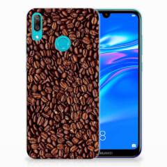 Huawei Y7 2019 Siliconen Case Koffiebonen