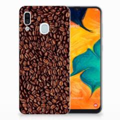 Samsung Galaxy A30 Siliconen Case Koffiebonen