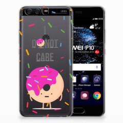 Huawei P10 Siliconen Case Donut Roze