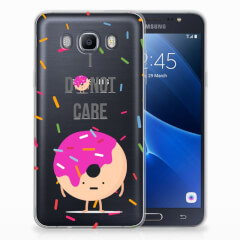 Samsung Galaxy J7 2016 Siliconen Case Donut Roze