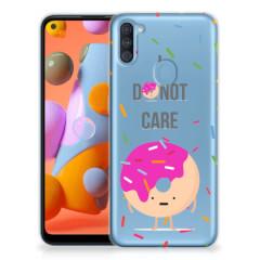 Samsung Galaxy A11   M11 Siliconen Case Donut Roze