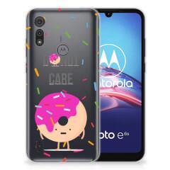 Motorola Moto E6s Siliconen Case Donut Roze