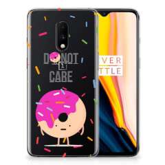 OnePlus 7 Siliconen Case Donut Roze