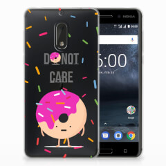 Nokia 6 Siliconen Case Donut Roze