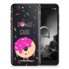Alcatel 1S (2019) Siliconen Case Donut Roze