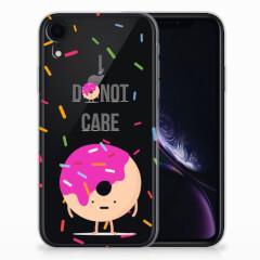 Apple iPhone Xr Siliconen Case Donut Roze