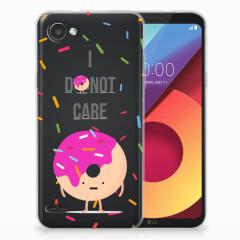 LG Q6   LG Q6 Plus Siliconen Case Donut Roze