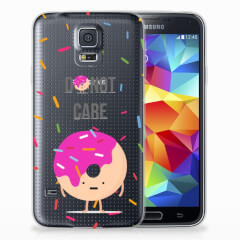 Samsung Galaxy S5 Siliconen Case Donut Roze
