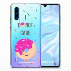 Huawei P30 Siliconen Case Donut Roze
