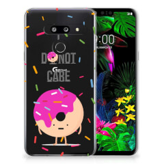LG G8 Thinq Siliconen Case Donut Roze