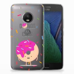 Motorola Moto G5 Plus Siliconen Case Donut Roze