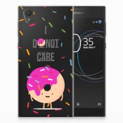 Sony Xperia L1 Siliconen Case Donut Roze
