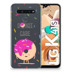 LG K41s Siliconen Case Donut Roze